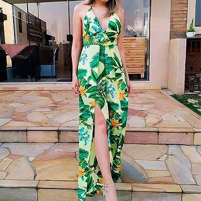 Macacão Estampado Pantalona | Anne Moda Feminina
