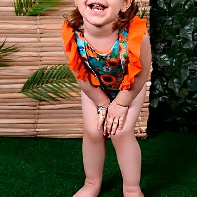 Maiô Infantil Florido | Paraíso Fashion