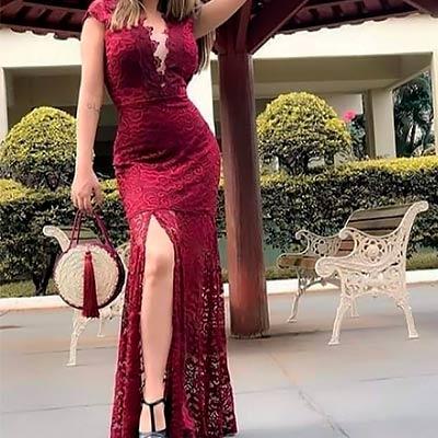 Vestido Longo Renda | Stylo Girls