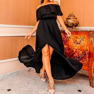 Vestido Fenda Ciganinha | Impacto Moda e Acessórios