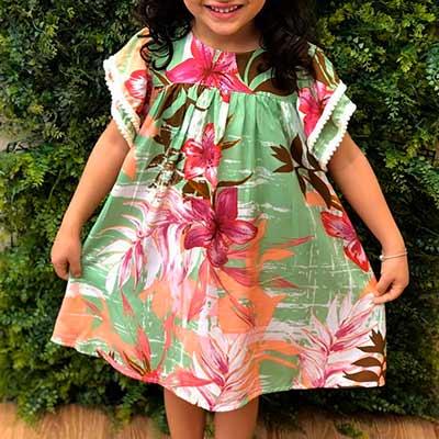 Vestido Infantil Estampado | Planet Kids Atacado e Varejo