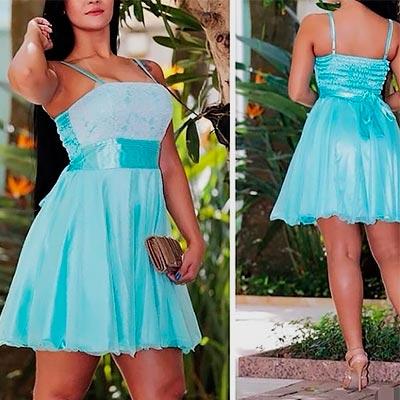 Vestido de Festa Azul | Rogéria Modas e Acessórios
