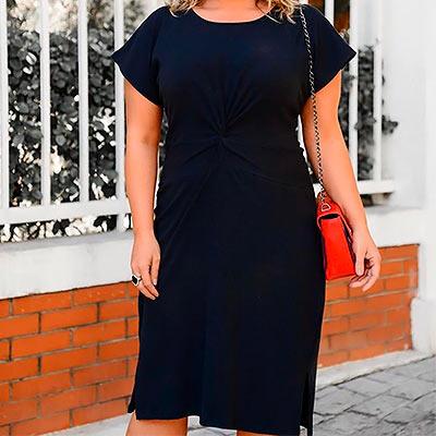 Vestido em Malha Canelada | Florinda Boutique