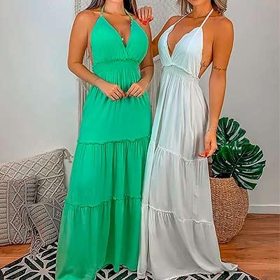 Vestido Longo Alcinha | Stylo Girls