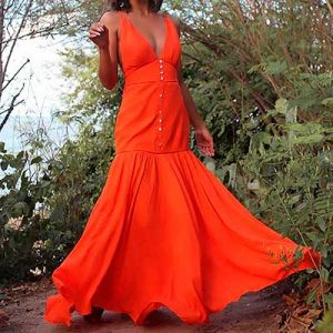 Vestido Longo Laranja | Bela Rosa