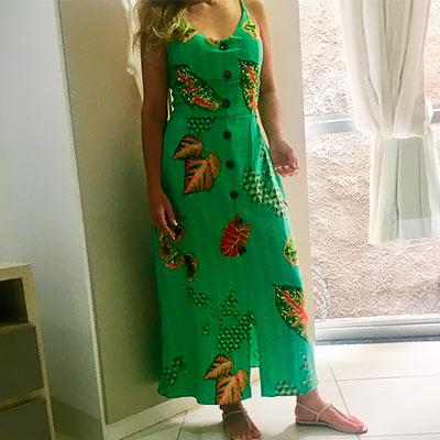 Vestido Midi Viscose | Rosa Bella Moda Feminina