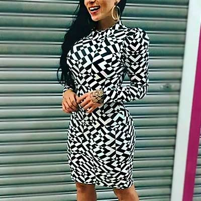 Vestido Midi Estampado | Grazy Fashion Modas