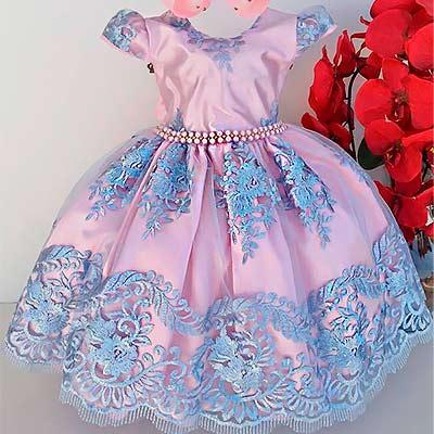 Vestido Infantil Festa | Rosa Kids