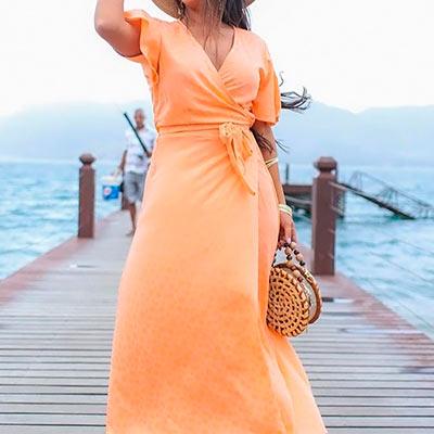 Vestido Longo Amarração | Impacto Moda e Acessórios