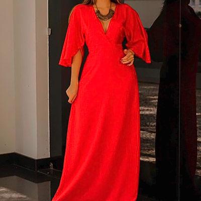 Vestido Longo Vermelho | Impacto Moda e Acessórios