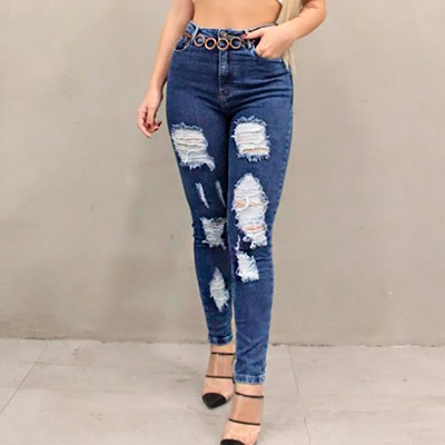 Calça Jeans Destroyed | Bella Chica