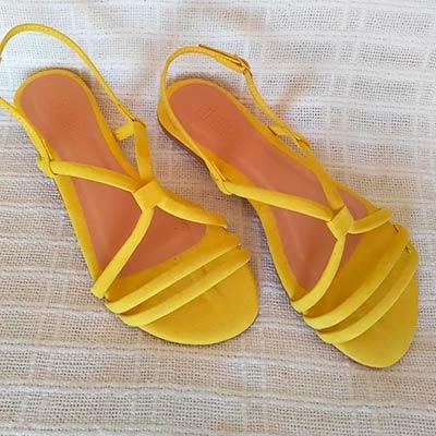 Sandália Rasteirinha Amarela | Passarela Calçados