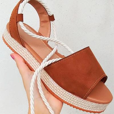 Sandália Flat Form | Passarela Calçados