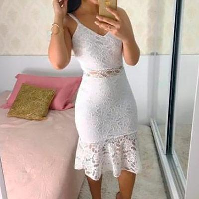 Vestido Midi Renda | Jessica Nunes Vestuário