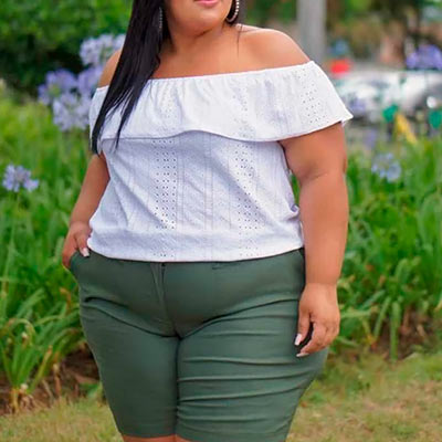 Blusa Ciganinha Branca | Lili Elegância Plus
