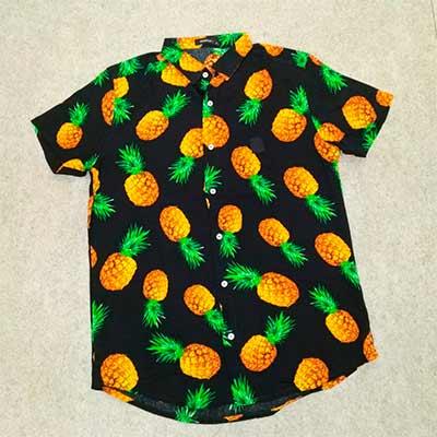 Camisa Viscose Abacaxi | Ana Costureira
