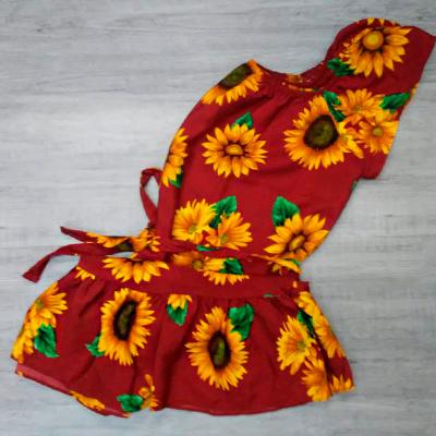 Vestido Estampado Girassol | Sam Modas