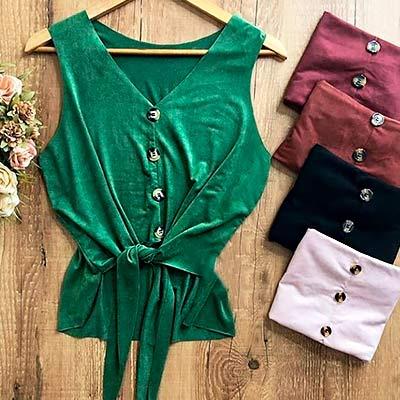 Blusinha Amarração Frontal | Atual Moda Fashion
