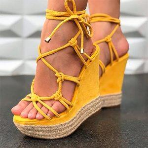 Sandália Salto Anabela | Namitala Calçados