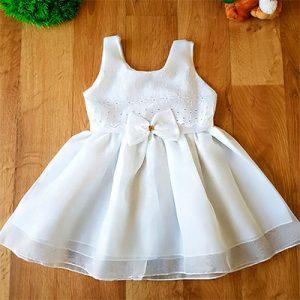 Vestido Branco Batizado | Luxos da Lara