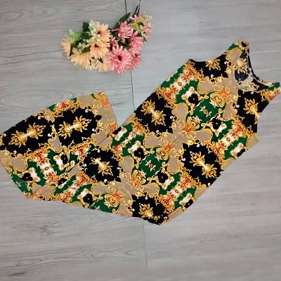 Vestido Longo Estampado | Edimais Modas