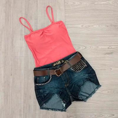 Short Jeans Feminino | Morena Flor
