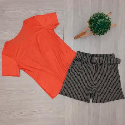 Blusa Suede Coral |  Amagis Modas