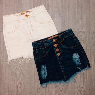 Saias Jeans Variadas | Honraria Jeans
