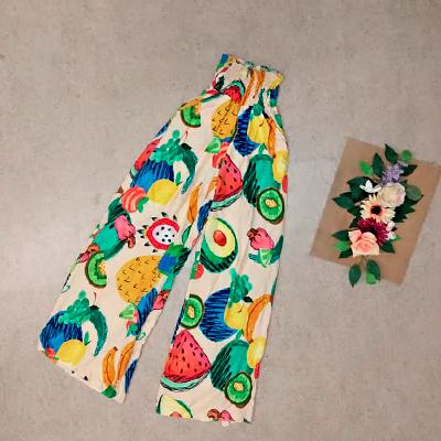 Calça Pantalona Estampada | Byanca Diniz