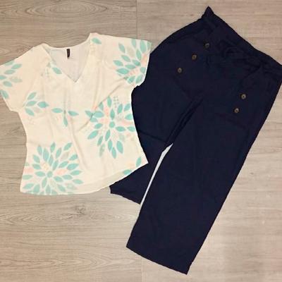 Calça Pantacourt e Blusa | Amora Moda Feminina