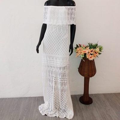 Vestido Longo Tricô | Nanda Confecções