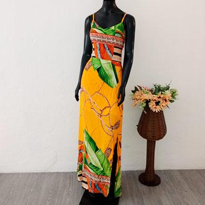 Vestido Longo Estampado | Maria Vestidos