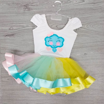 Vestido Infantil Tule | Caças e Cia