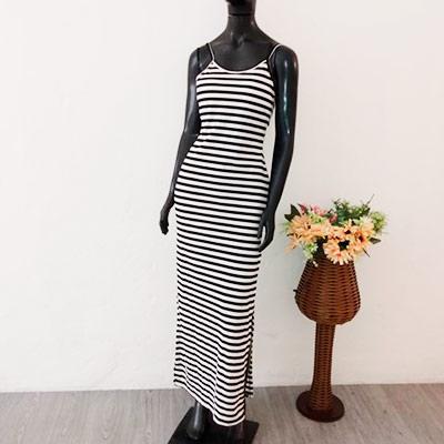 Vestido Longo Listrado | Moda Fashion L e A