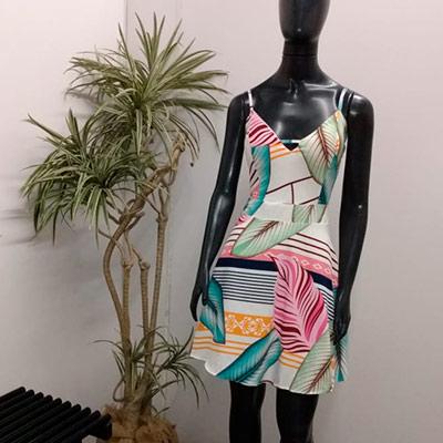 Vestido Curto Estampado | Vera Modas
