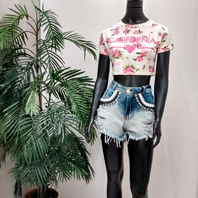 Short Jeans Desfiado | Loly Moda Feminina