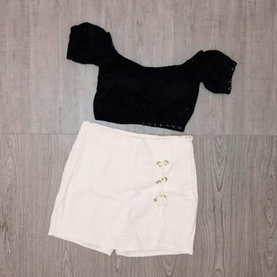 Short-Saia Branco | Tita Moda