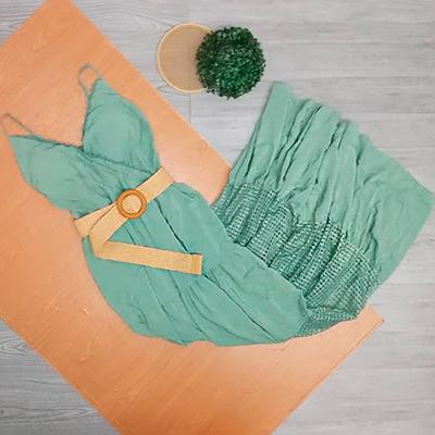 Vestido Com Cinto | Ateliê da Larisse