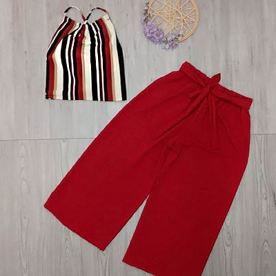 Conjunto Cropped e Pantacourt | Diamond Modas