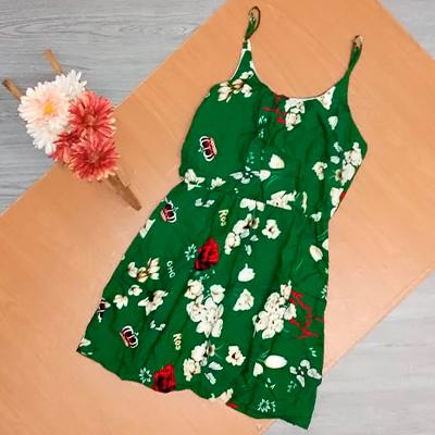 Vestido Estampado Alcinha | Claudia Modas
