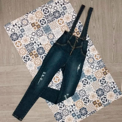 Salopete Jeans Adulto | Influência Jeans