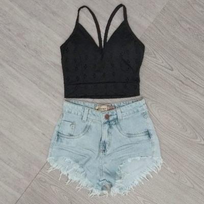 Short Jeans Desfiado | Linha do Corpo
