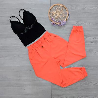 Calça Jogger Coral | Juju Modas