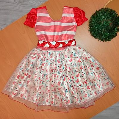Vestido Infantil Tule | Rosa de Saron Infantil