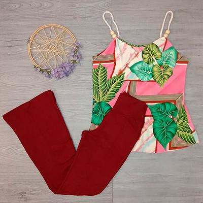 Calça Feminina Vermelha | Jane Modas