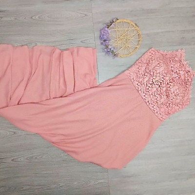 Vestido Longo Festa | Lilás Modas