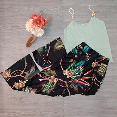 Calça Pantalona Estampada | Guimel Modas