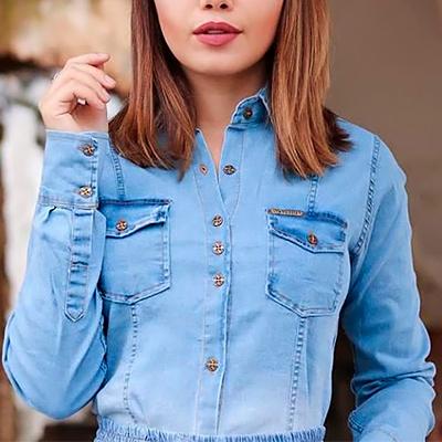 Camisa Jeans Feminina | Linha do Corpo