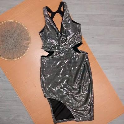 Vestido Lurex Curto | Scape Moda