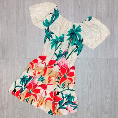 Vestido Estampado Adulto | Rosa de Saron
